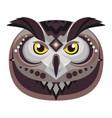 owl head logo decorative emblem vector image
