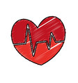 cardio heart icon vector image