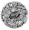 cartoon cute doodles hand drawn idea vector image