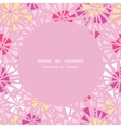 pink abstract triangles frame seamless pattern vector image