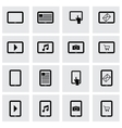 black tablet icon set vector image vector image
