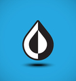 Abstract blue water drop vector image