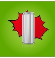 Blank aluminium can vector image vector image