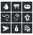 Spring mood Icons vector image