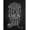 Poster popcorn butter chalk vector image