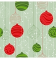 Retro elements for design Christmas balls seamless vector image vector image
