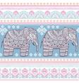 Ethnic Indian bohemian style elephant seamless vector image vector image