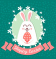 happy easter rabbit happy easter backgrounds vector image