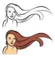 Long hair vector image