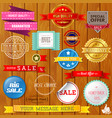 set of ribbons and labels vector image