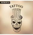 steampun tattoo skull vector image