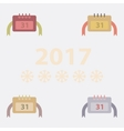 collection of new year calendar vector image