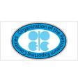 sticker oil organization OPEC vector image