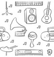 music element various doodle style vector image