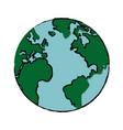 drawing global world earth map atlas vector image