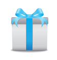 gift box blue vector image