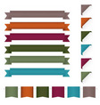 ribbon design elements vector image vector image
