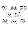 cartoon eyes vector image