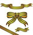 stripe ribbons vector image vector image