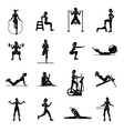 Aerobic icons 4x4 black vector image