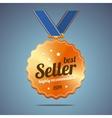 Best seller award medal vector image