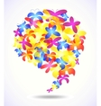 Butterfly glossy speech icons vector image