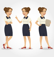 female character hispanic business woman vector image