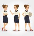 female character hispanic business woman vector image