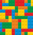 Plastic construction blocks vector image