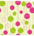 Retro elements for design Christmas balls seamless vector image