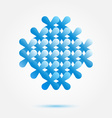 Soft blue business sybmol - perfect for consulting vector image