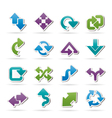 Different kind of arrows icons vector