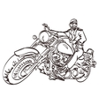 Biker on the freedom trip An hand drawn vector image