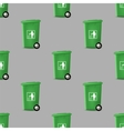 Plastic Green Trashcan Seamless Pattern vector image