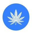 Marijuana leaf icon in black style isolated on vector image
