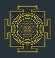 monocrome outline Sri yantra vector image