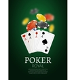 Poker chips and cards bacgkground Poker Casino vector image