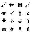black farming icon set vector image