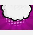 blank comic book pop art speech bubble vector image