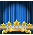 blue curtain stars vector image