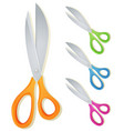 cartoon scissors set vector image