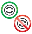 Exchange permission signs vector image