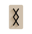 runic alphabet and letters flat icon on white vector image