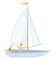 sailing boat with a people vector image
