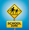 TRAFFIC Sign School warning vector image vector image