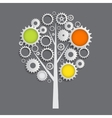 Machine Gear Wheel Cogwheel Tree Concept vector image