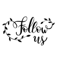 Follow us Brush hand lettering vector image