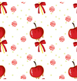 A seamless template with apples candy balls and vector image