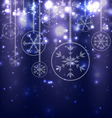 Abstract Christmas Balls on Blue Background vector image vector image