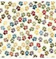 paw seamless tile vector image